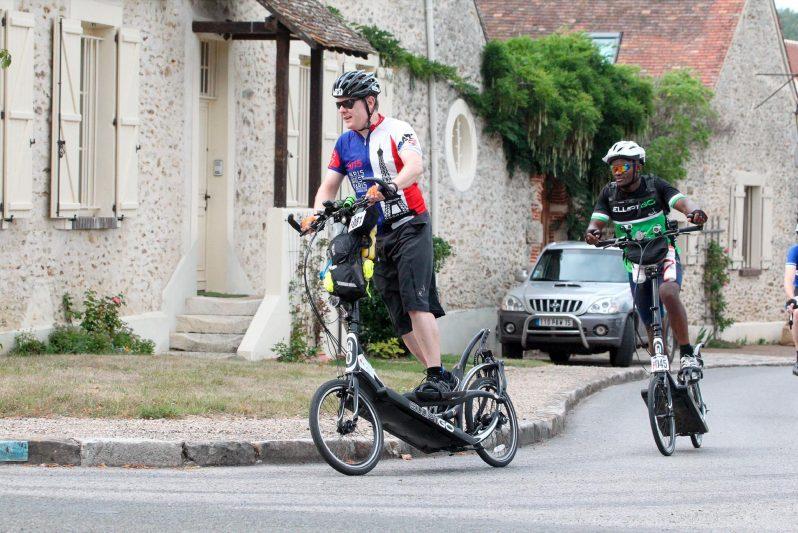 Bill Pinnell on ElliptiGO bike at Paris-Brest-Paris