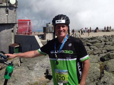Jim Hansen headshot post race
