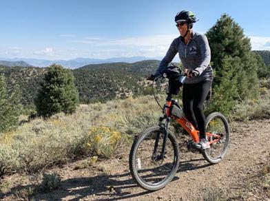 MSUB rider Lyn on trails