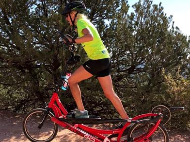 Long-Stride rider Amanda Rego