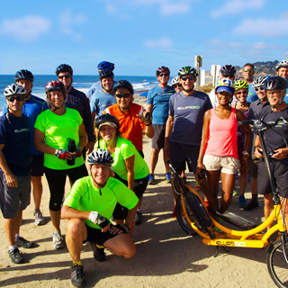 Group of ElliptiGO Riders