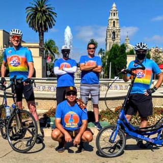 Group of leisurely ElliptiGO riders