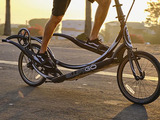 Rider on Long-Stride, bike zoom in