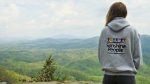 Sunshine People Hoodie back